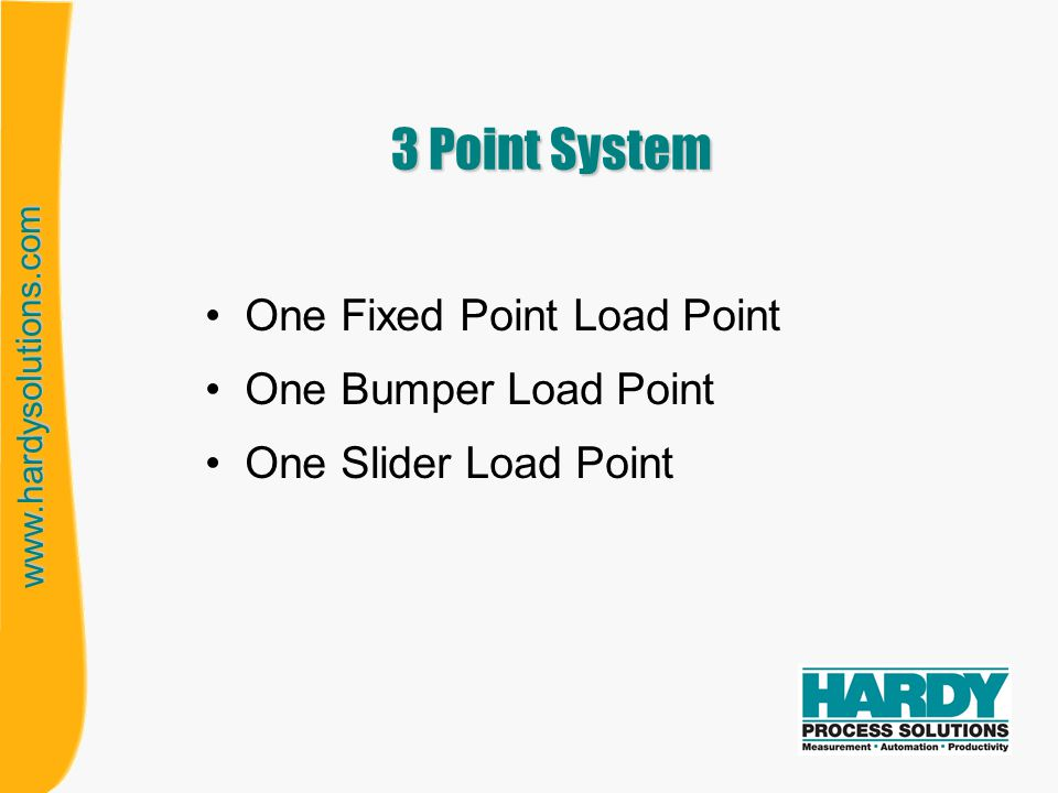 3 Point System One Fixed Point Load Point One Bumper Load Point
