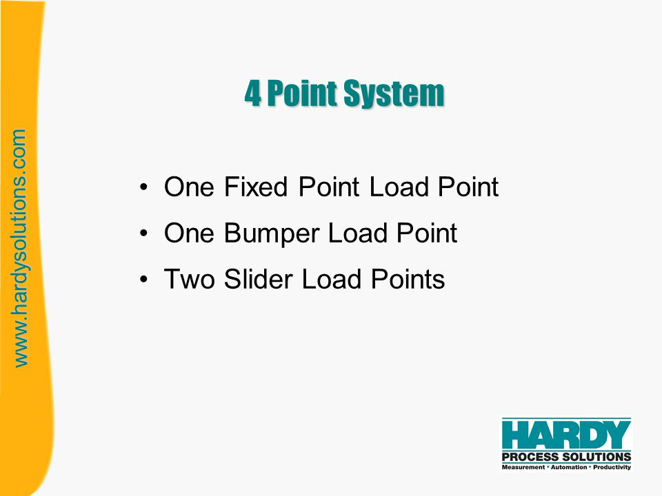 4 Point System One Fixed Point Load Point One Bumper Load Point