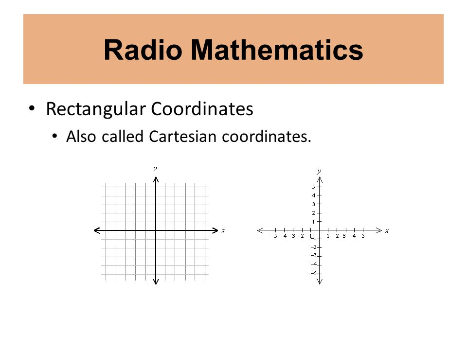 Radio Mathematics Rectangular Coordinates