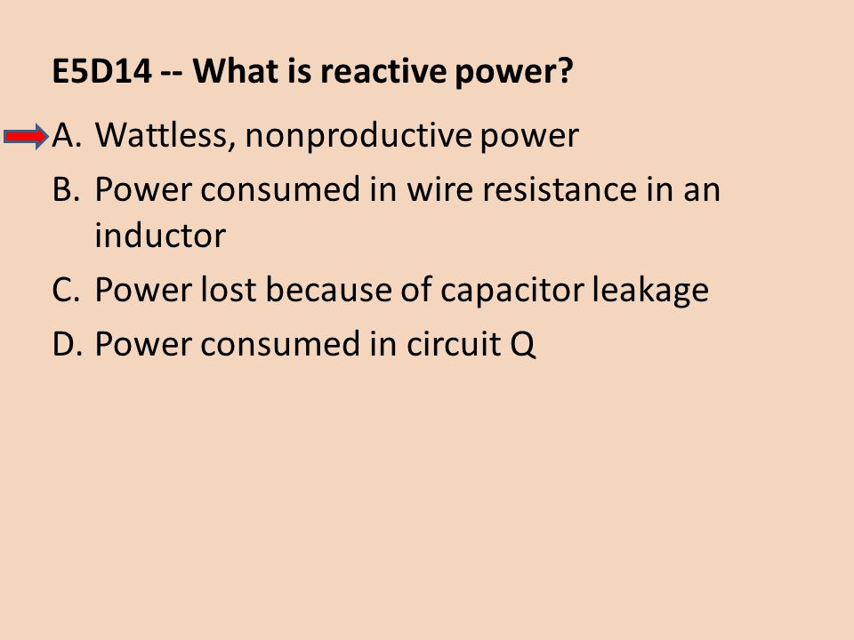 E5D14 -- What is reactive power
