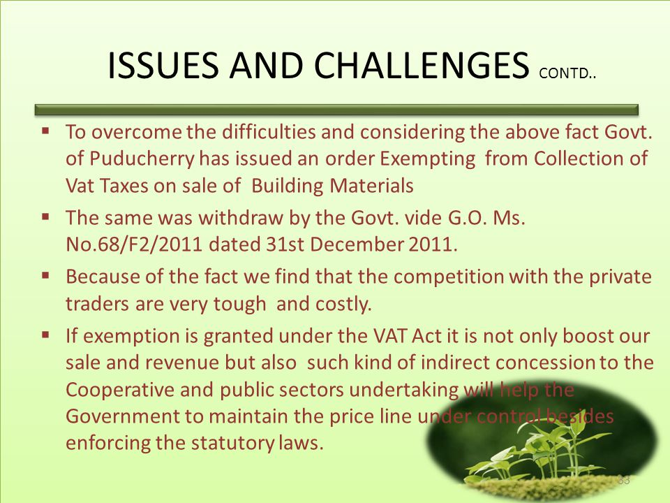ISSUES AND CHALLENGES CONTD..