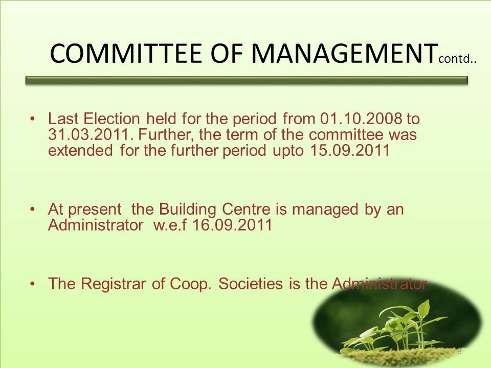 COMMITTEE OF MANAGEMENTcontd..