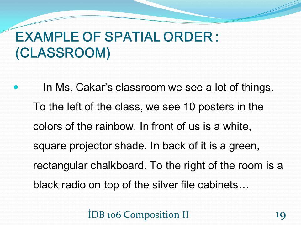 Descriptive essay spatial order