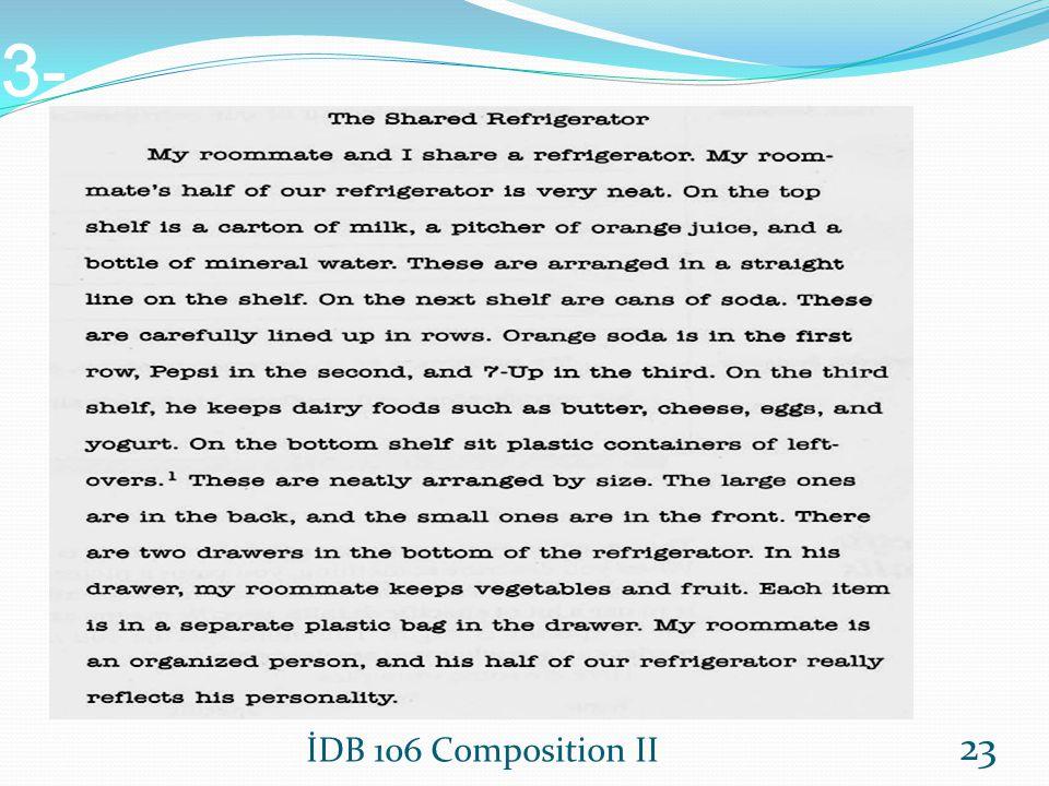 3- 1 left-over: arta kalanlar İDB 106 Composition II