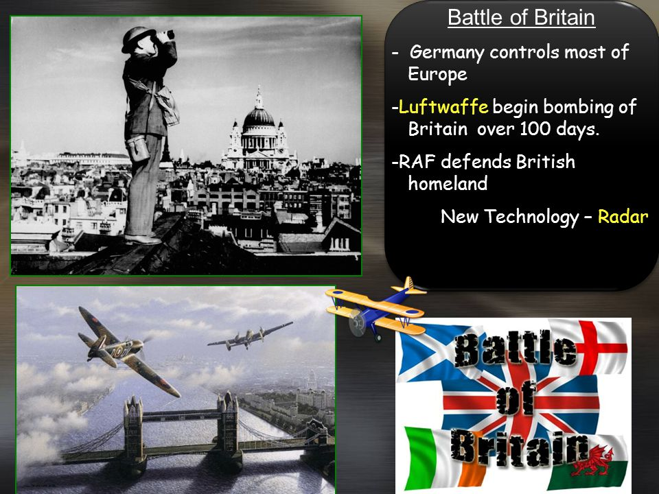 Battle of Britain - Germany controls most of Europe