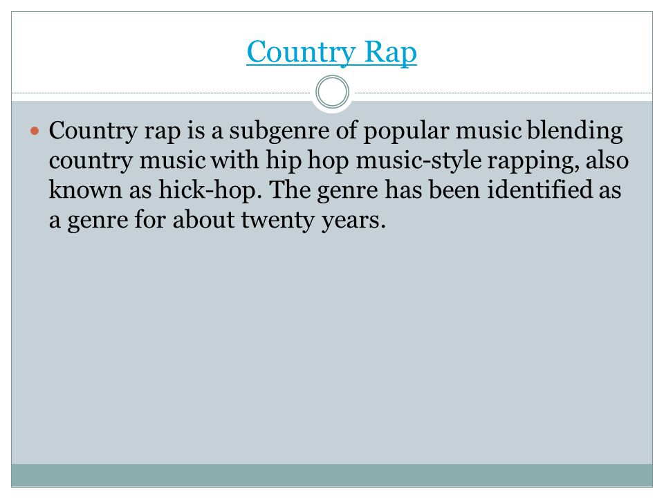 Country Rap