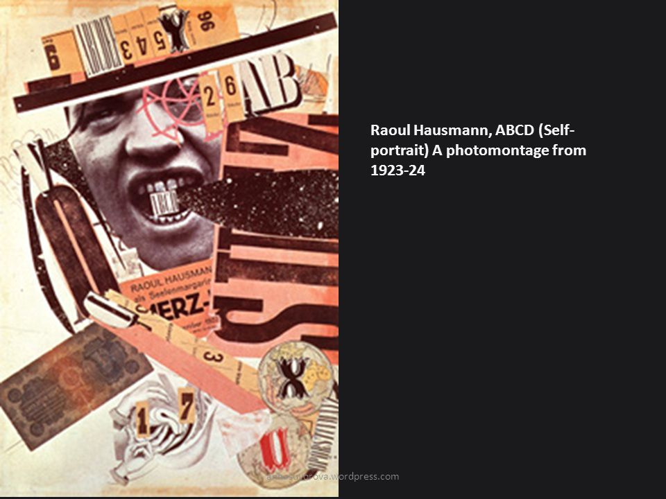 Raoul Hausmann, ABCD (Self-portrait) A photomontage from