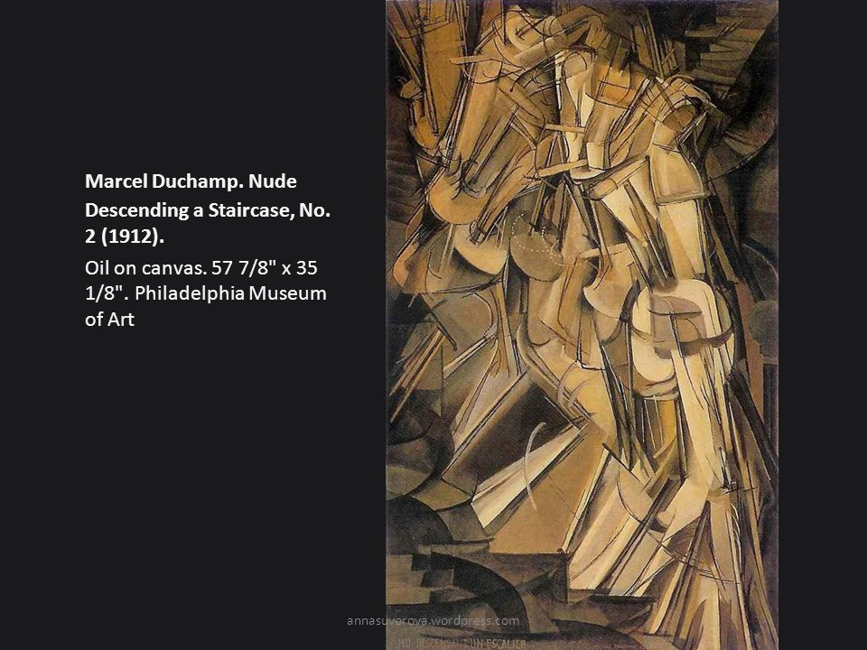 Marcel Duchamp. Nude Descending a Staircase, No. 2 (1912).