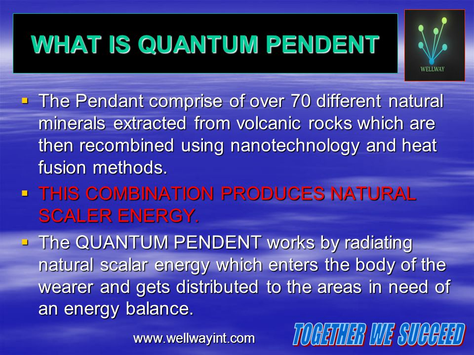 WHAT IS QUANTUM PENDENT