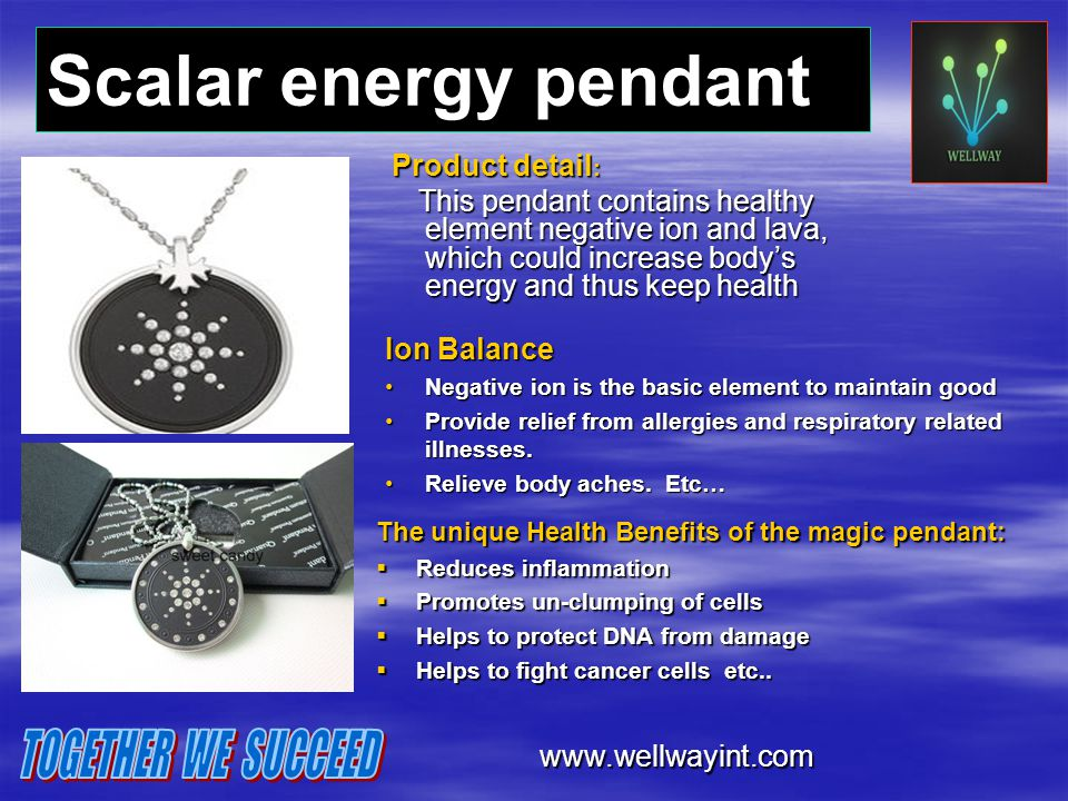 Scalar energy pendant TOGETHER WE SUCCEED
