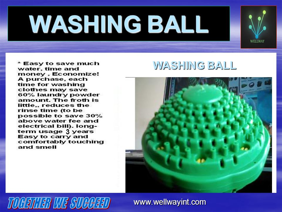 WASHING BALL TOGETHER WE SUCCEED WASHING BALL www.wellwayint.com 3