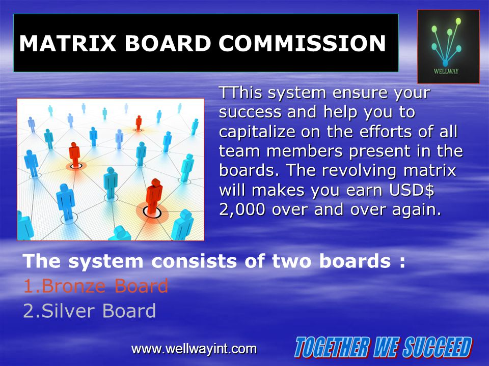 TOGETHER WE SUCCEED MATRIX BOARD COMMISSION
