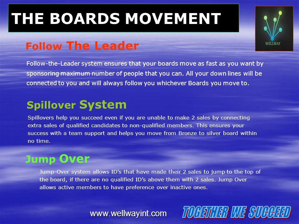 THE BOARDS MOVEMENT TOGETHER WE SUCCEED Follow The Leader