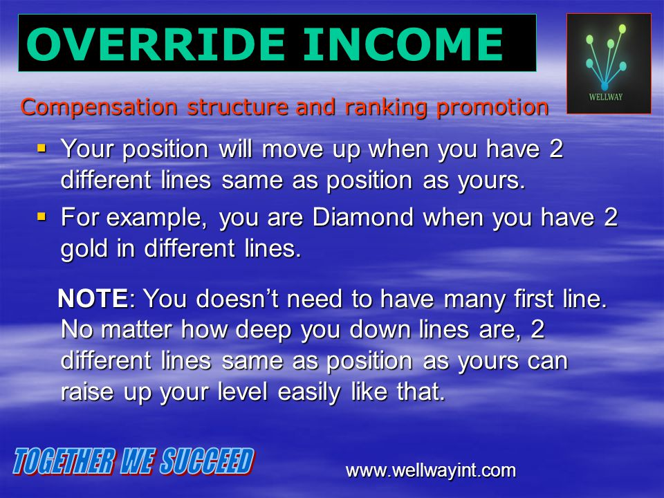 Compensation structure and ranking promotion