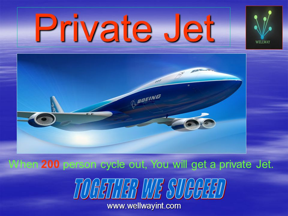 Private Jet TOGETHER WE SUCCEED