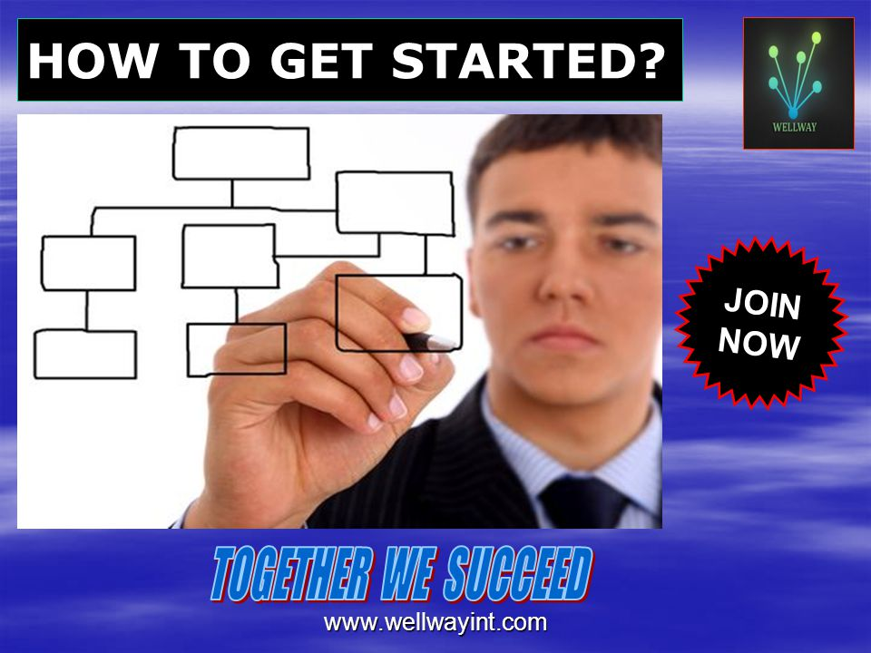 HOW TO GET STARTED JOIN NOW TOGETHER WE SUCCEED www.wellwayint.com