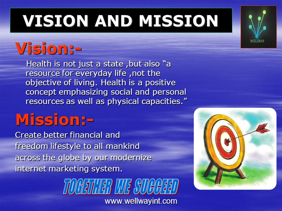 Vision:- Mission:- VISION AND MISSION TOGETHER WE SUCCEED