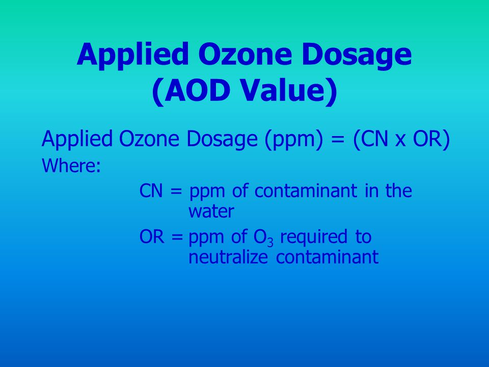 Applied Ozone Dosage (AOD Value)
