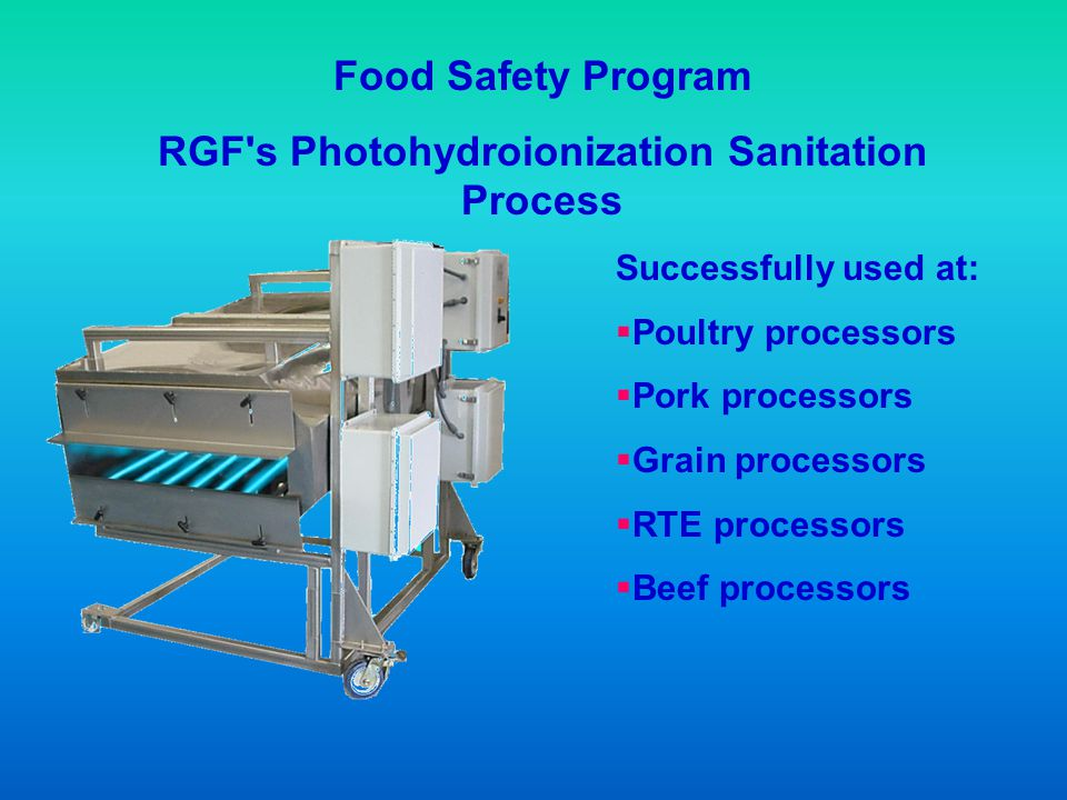 RGF s Photohydroionization Sanitation Process
