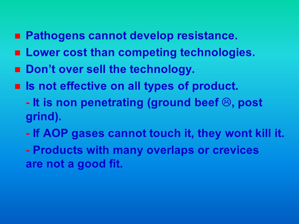 Pathogens cannot develop resistance.