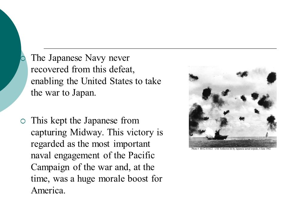 The Japanese Navy never recovered from this defeat, enabling the United States to take the war to Japan.