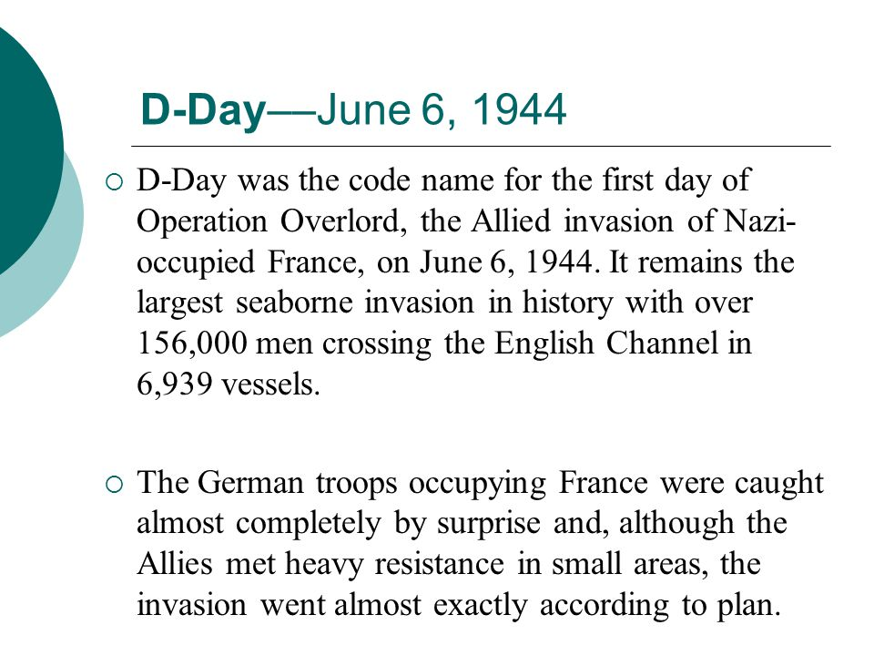 D-Day––June 6, 1944
