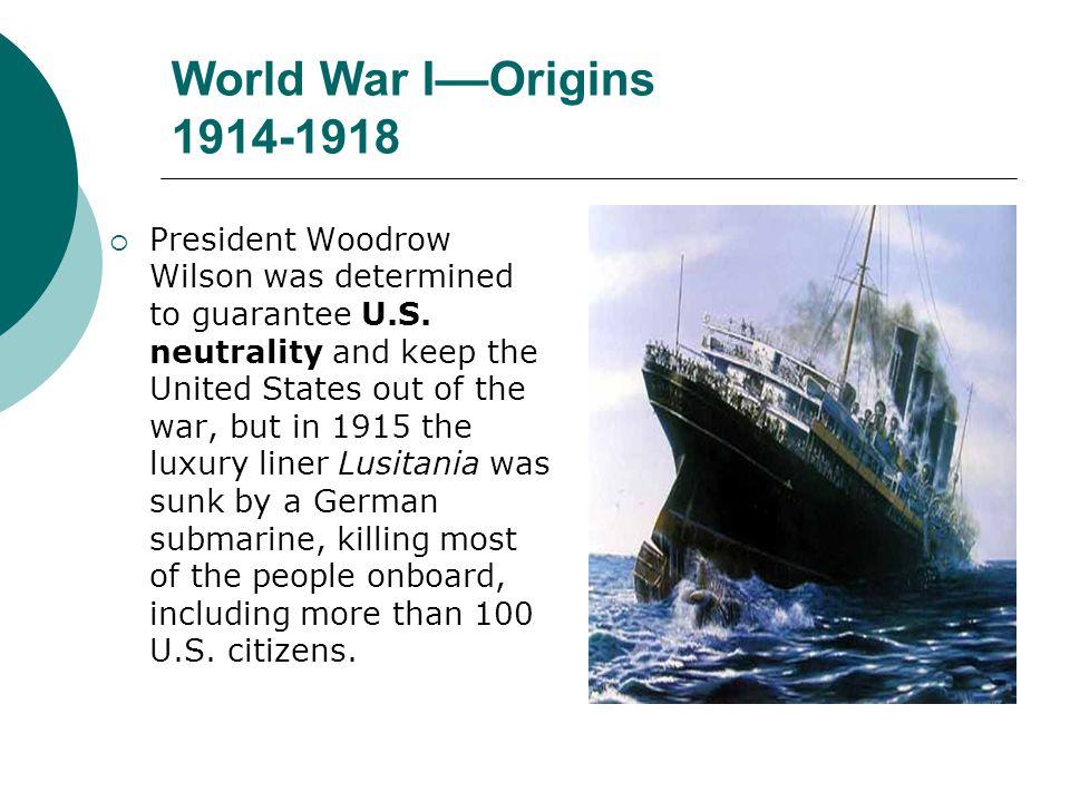 World War I––Origins 1914-1918