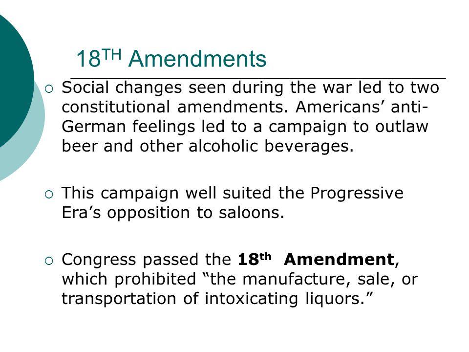 18TH Amendments