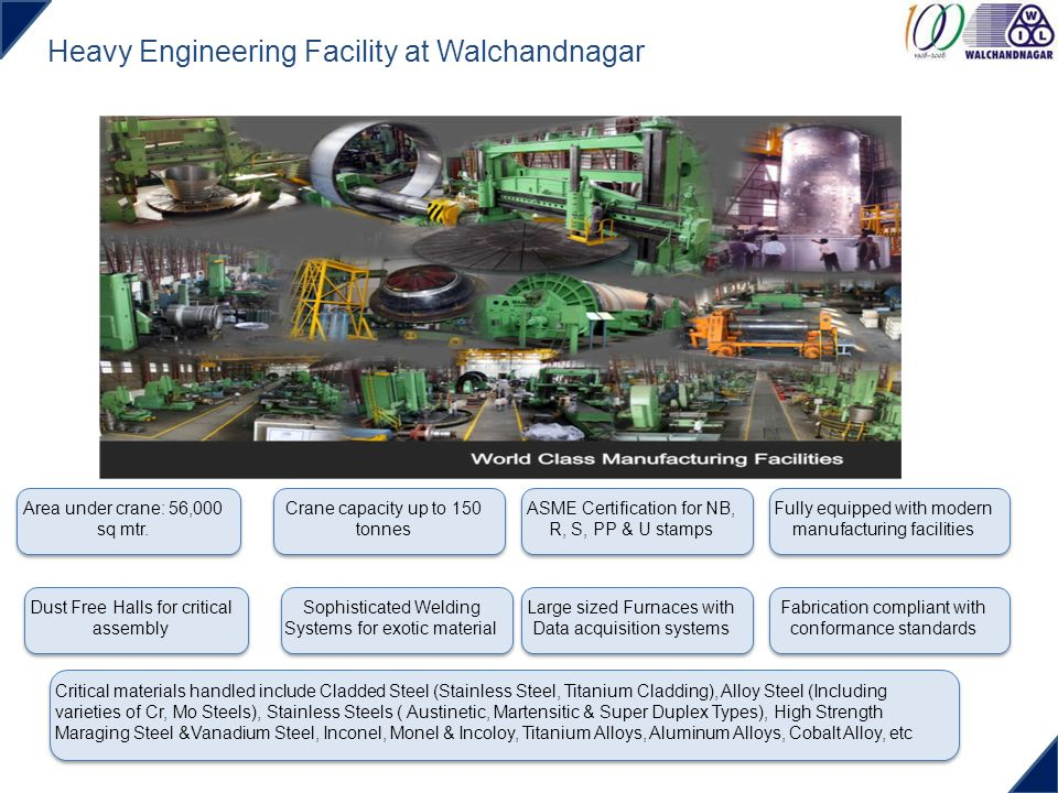 Heavy Engineering Facility at Walchandnagar