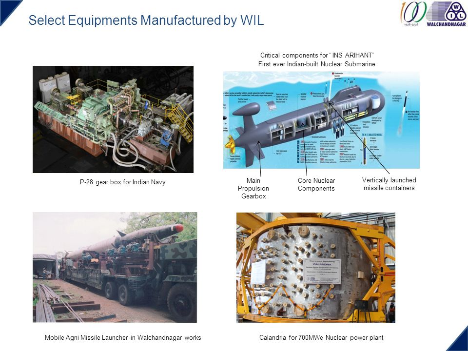 Select Equipments Manufactured by WIL