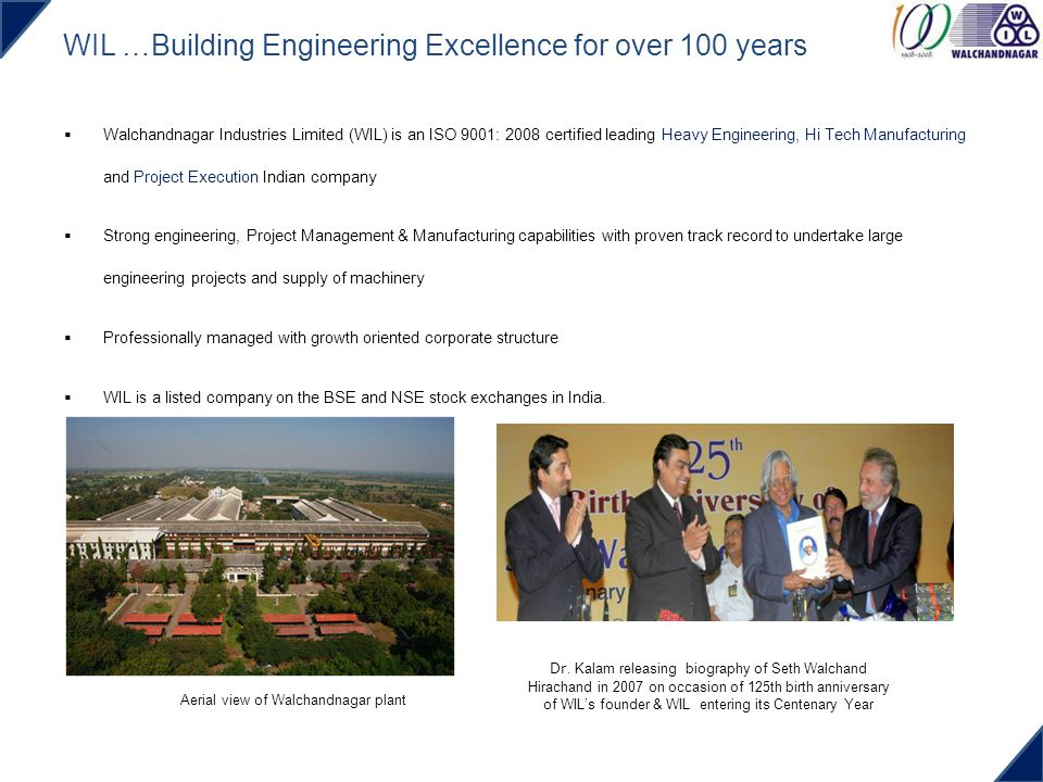 WIL …Building Engineering Excellence for over 100 years