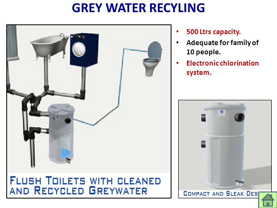 GREY WATER RECYLING 500 Ltrs capacity.