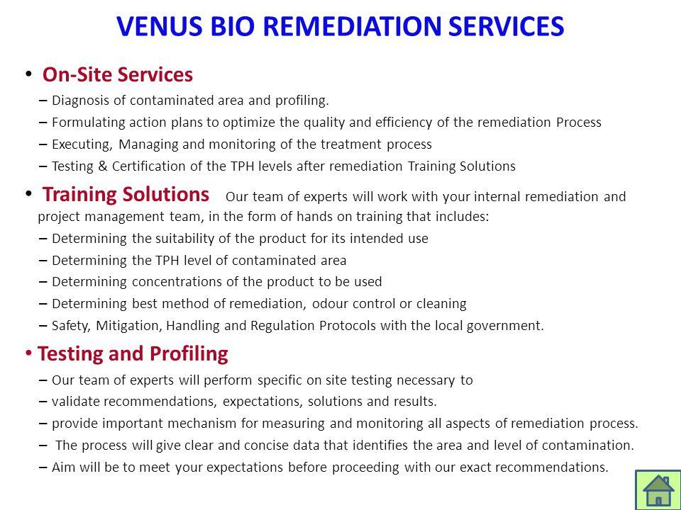 VENUS BIO REMEDIATION SERVICES