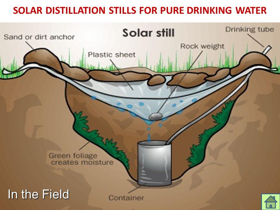 SOLAR DISTILLATION STILLS FOR PURE DRINKING WATER