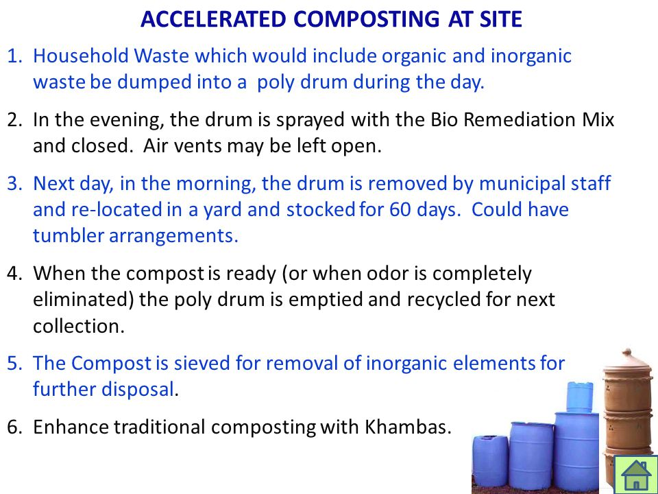 ACCELERATED COMPOSTING AT SITE