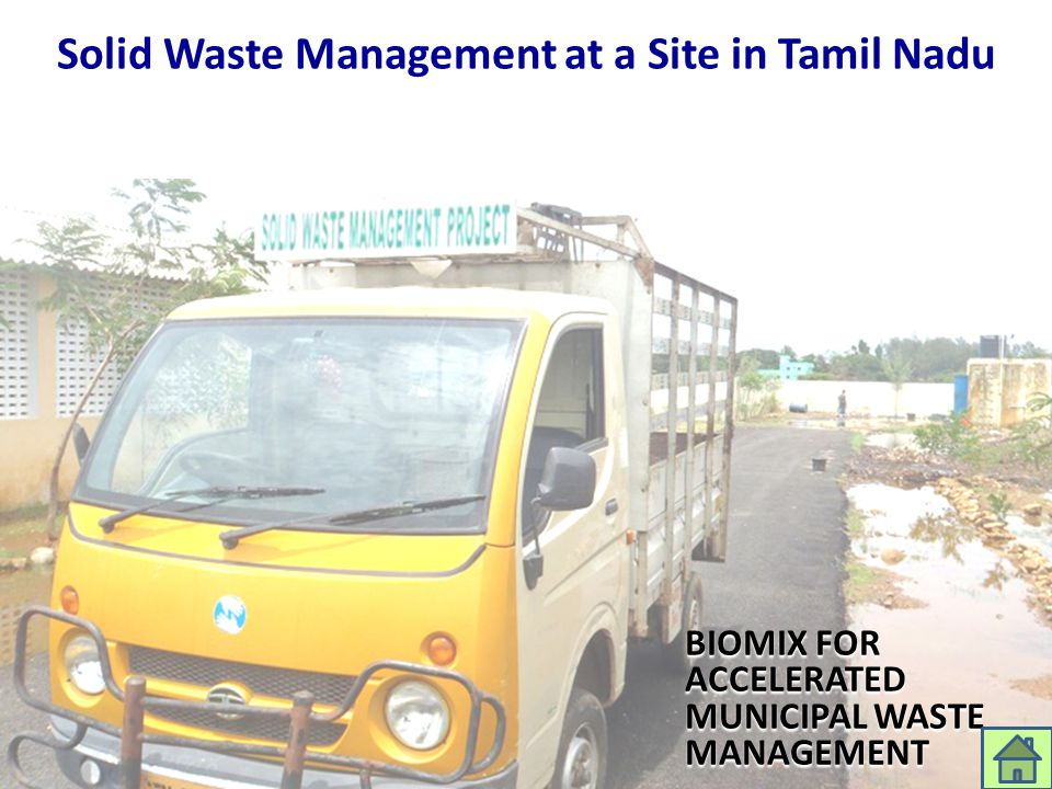 Solid Waste Management at a Site in Tamil Nadu