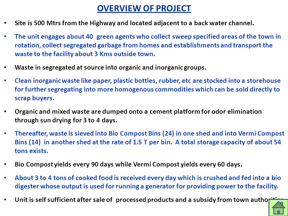OVERVIEW OF PROJECT aarenghosh@eximgroupindia.net