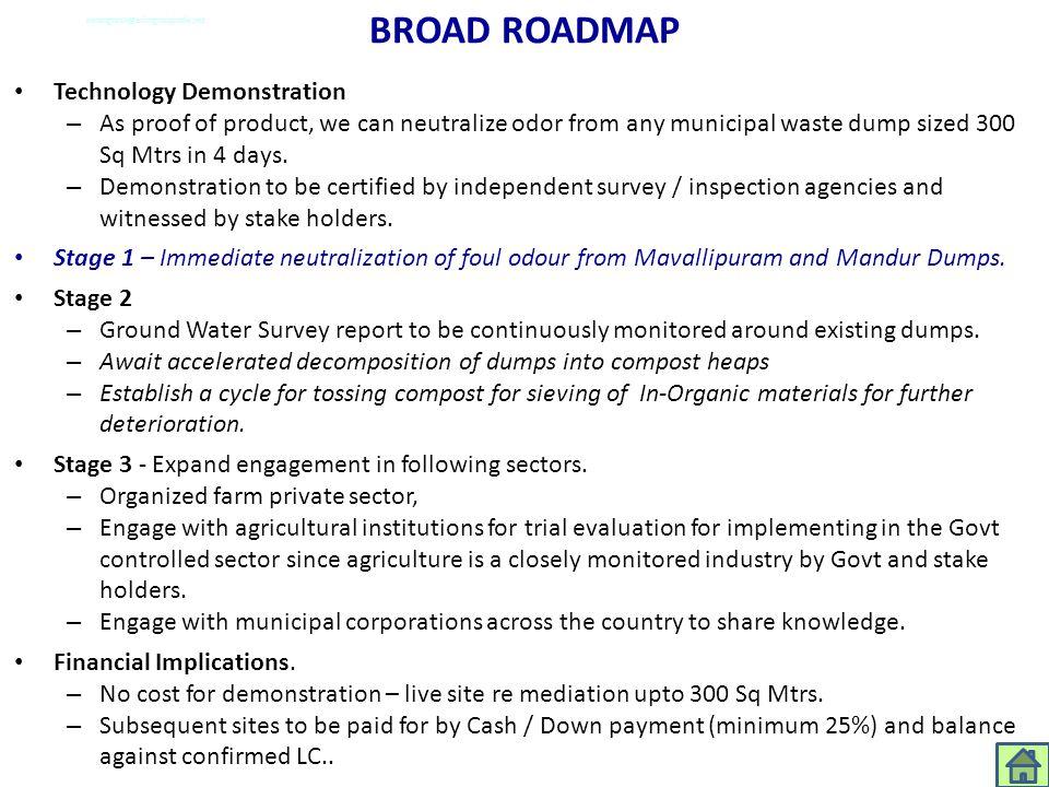 BROAD ROADMAP Technology Demonstration