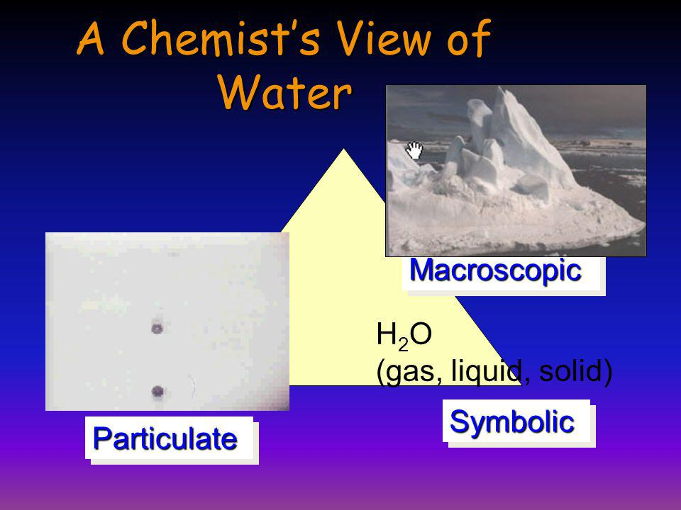 A Chemist's View of Water