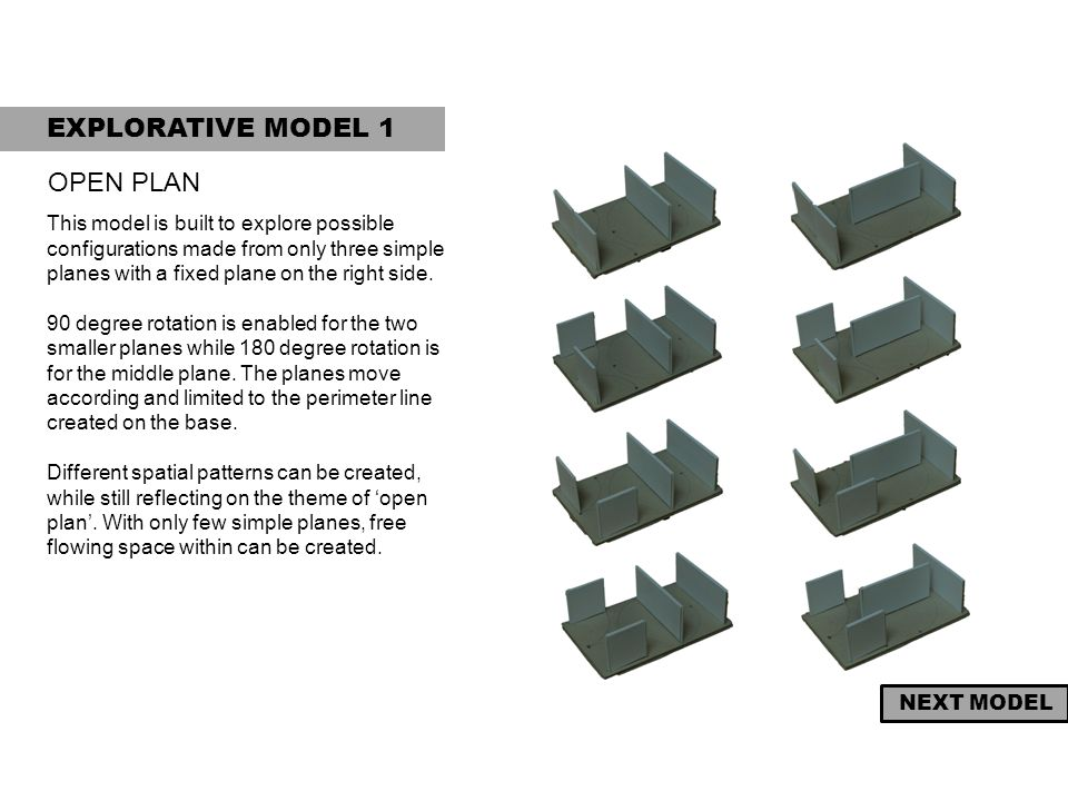 EXPLORATIVE MODEL 1 OPEN PLAN