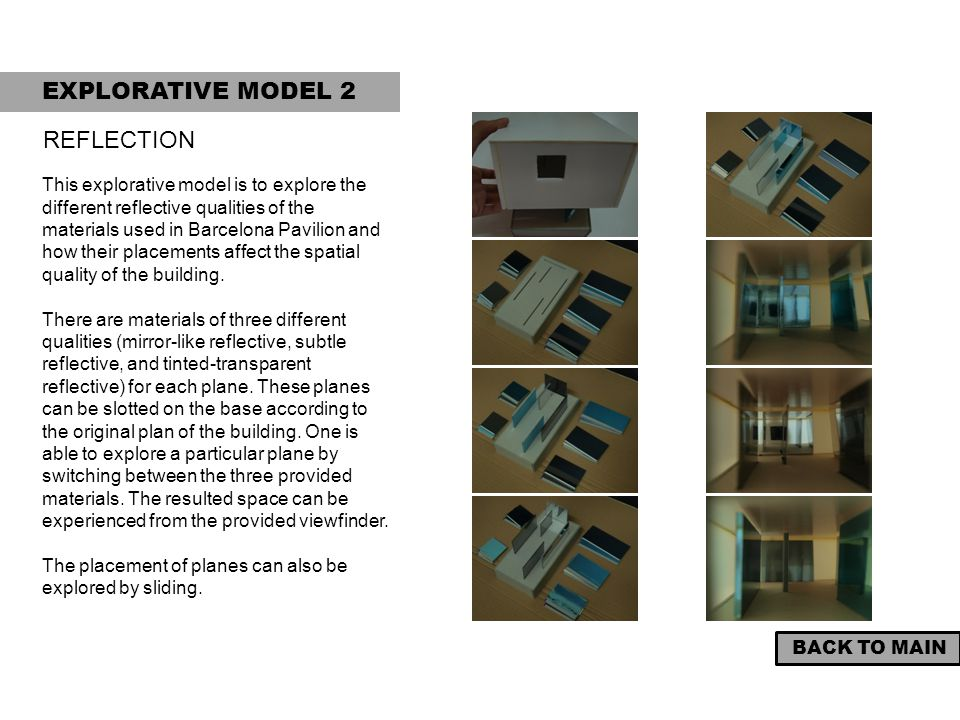 EXPLORATIVE MODEL 2 REFLECTION
