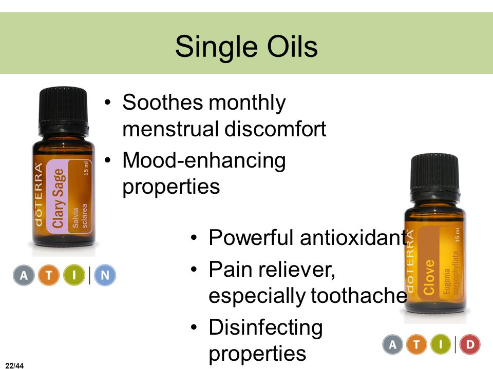 Single Oils Soothes monthly menstrual discomfort