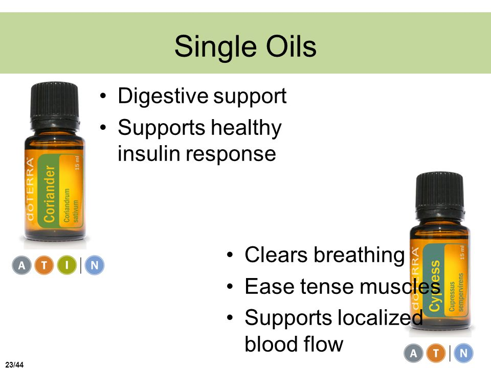 Single Oils Digestive support Supports healthy insulin response