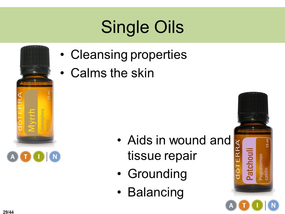 Single Oils Cleansing properties Calms the skin