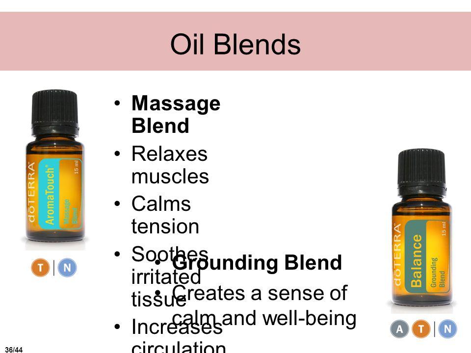 Oil Blends Massage Blend Relaxes muscles Calms tension
