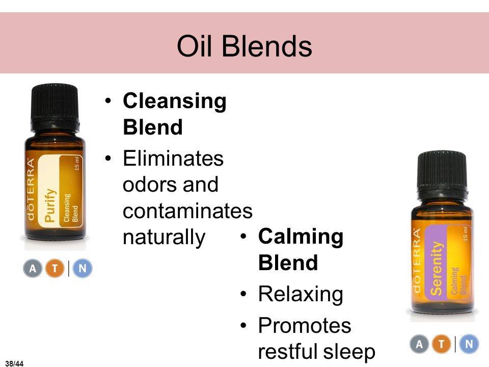Oil Blends Cleansing Blend Eliminates odors and contaminates naturally