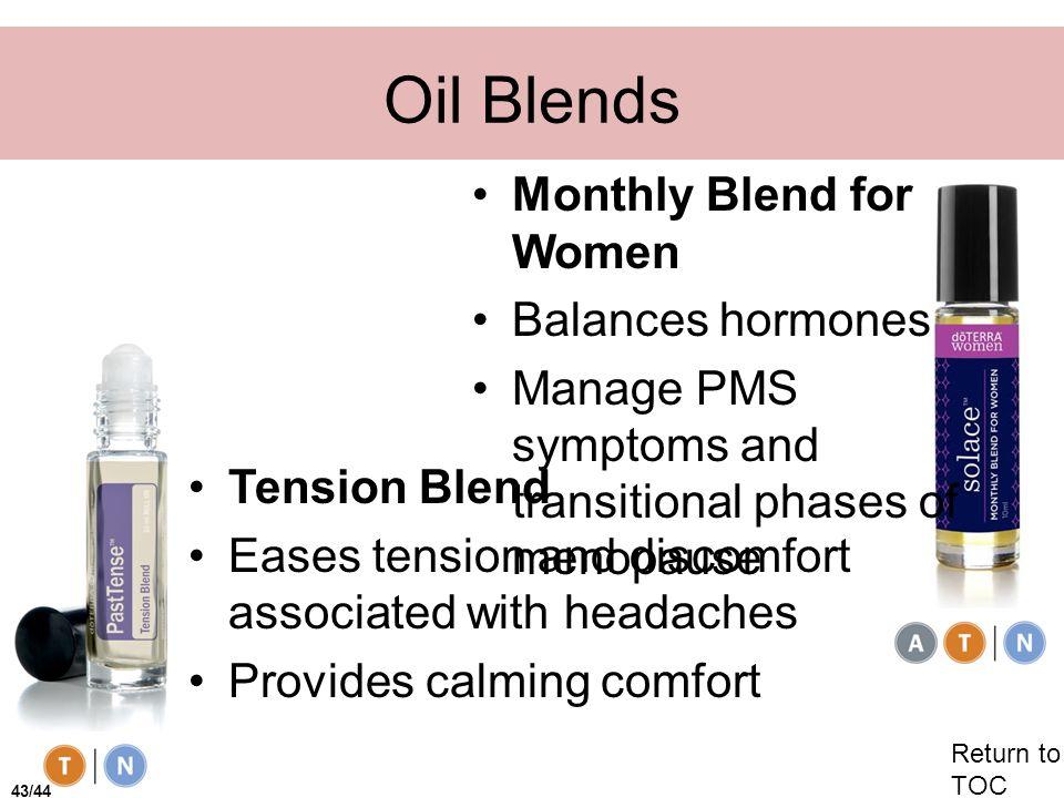Oil Blends Monthly Blend for Women Balances hormones