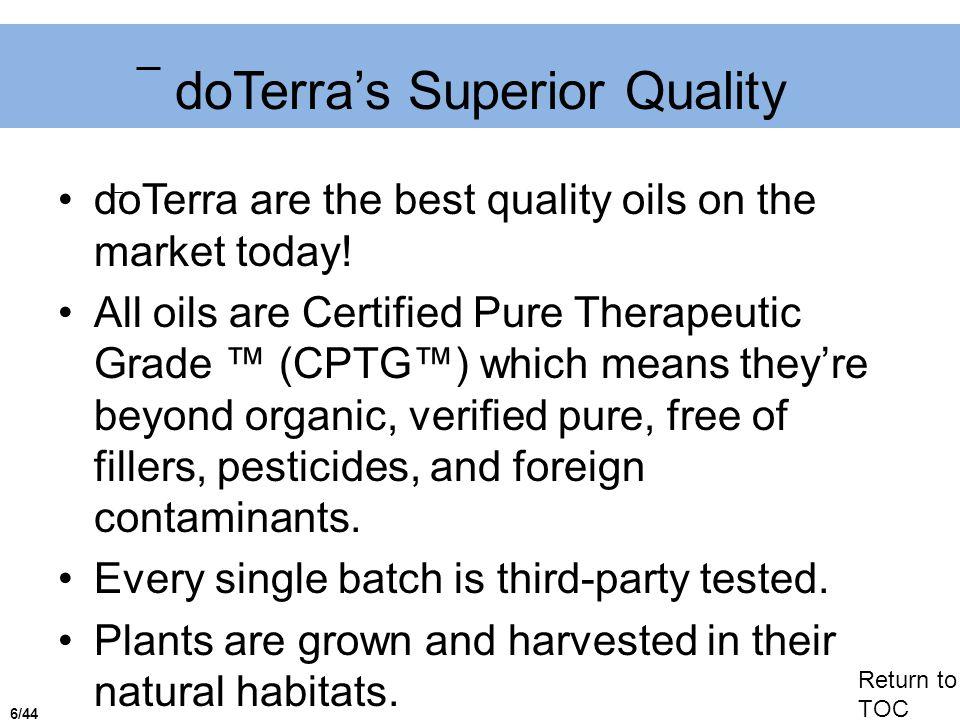 doTerra's Superior Quality