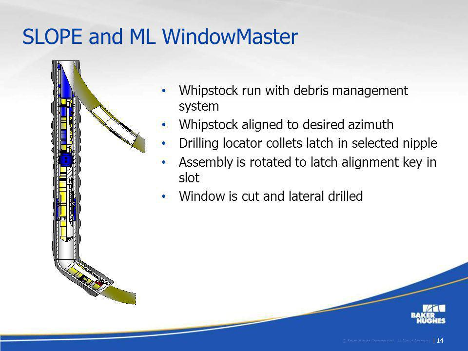 SLOPE and ML WindowMaster