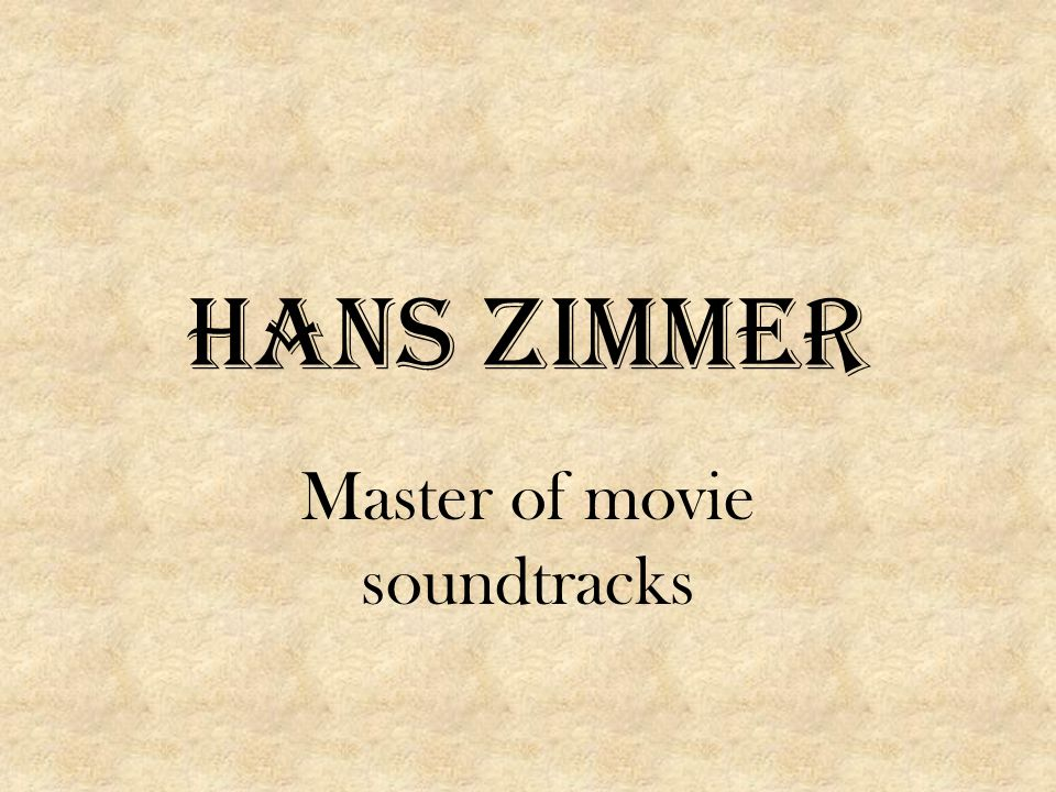 Master of movie soundtracks
